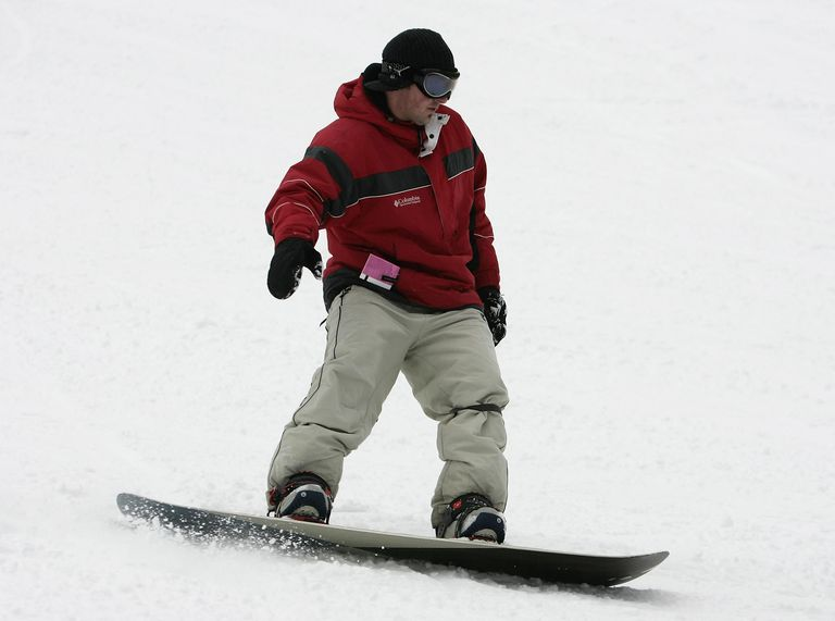 Man on snowboard