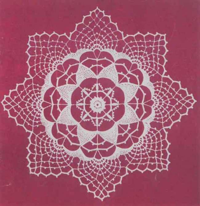 Pointed Harmony Doily Free Crochet Pattern