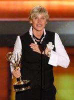 Ellen DeGeneres with Emmy Award
