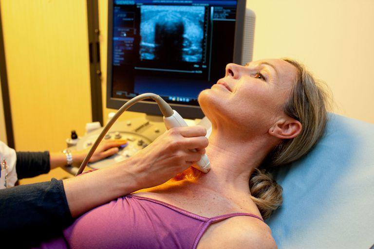 Endocrinologist taking ultrasound
