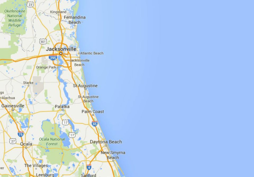 Map Of Northeast Florida