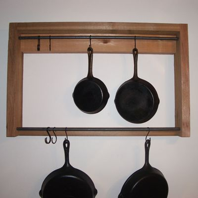 Rustic Pot Rack
