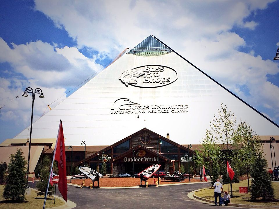 Bass Pro Shops at the Pyramid store and hotel in Memphis, Tennessee