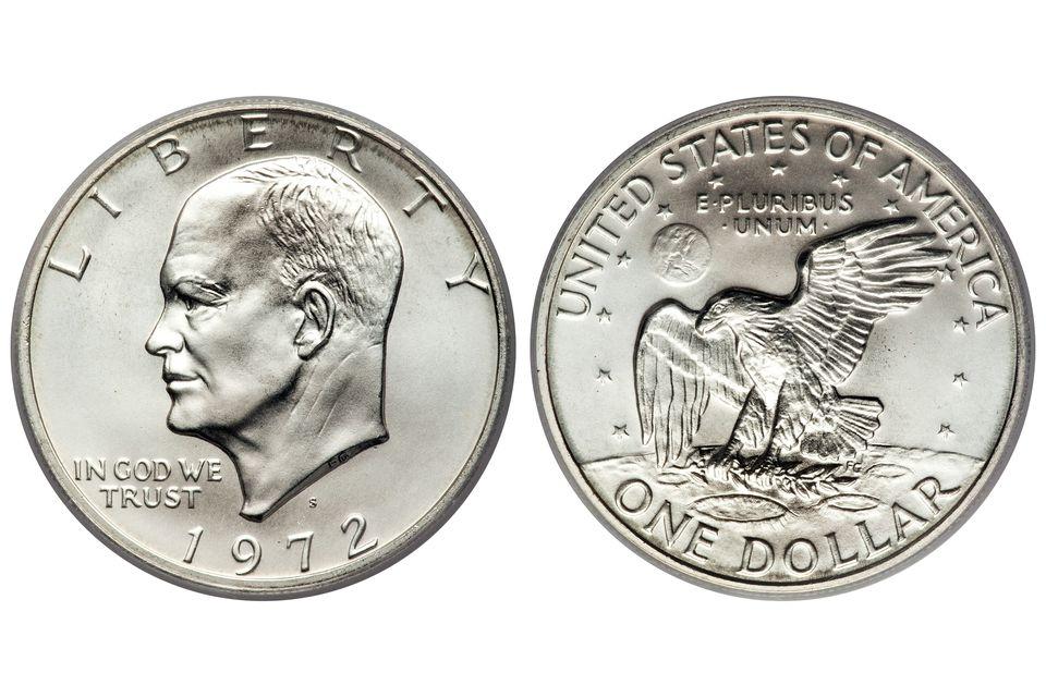 Top-Graded 1972-S Silver Ike, MS69