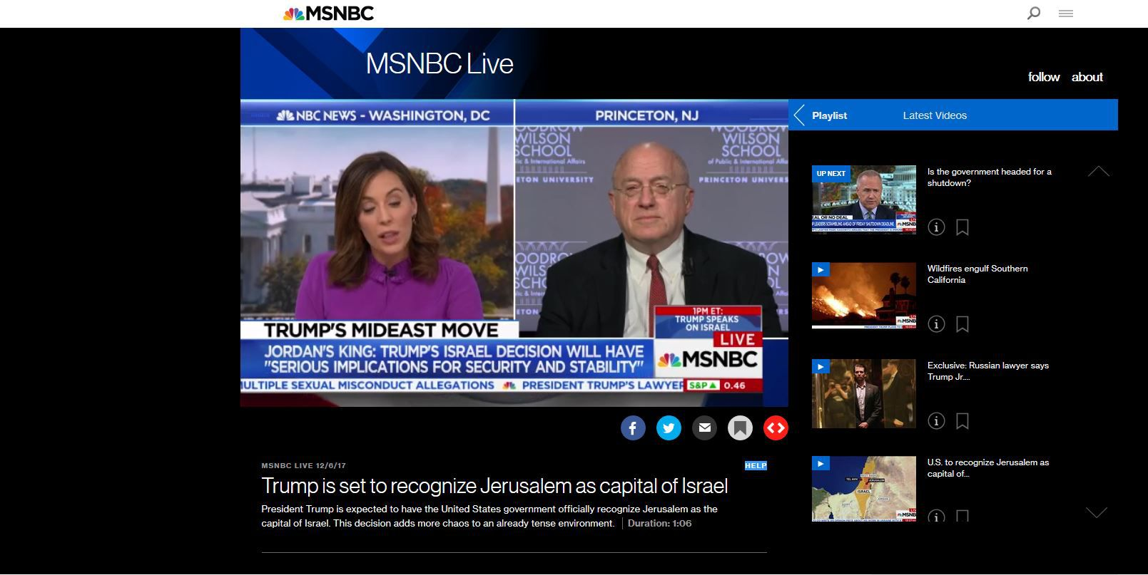 how to watch msnbc news online