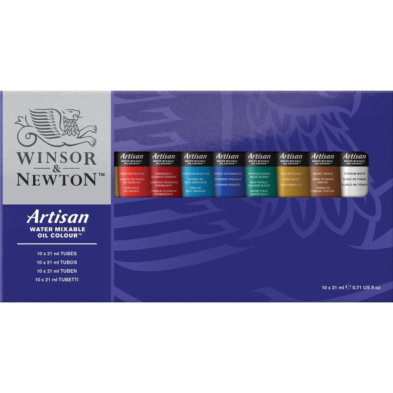 Set of Water Mixable Oil Colour paints made by Winsor & Newton
