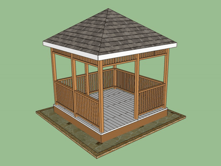 Free Wooden Gazebo Plan From How To Specialist