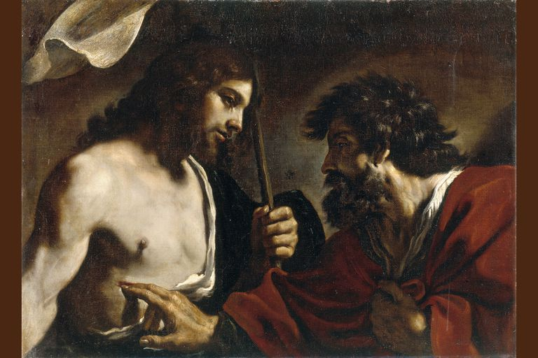 The Incredulity of Saint Thomas, by Guercino, 1600s.