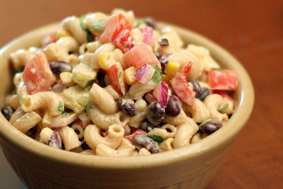 Macaroni Salad with Black Beans