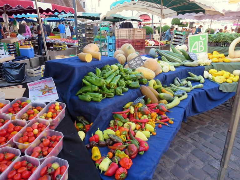 The Market of Beaune, Burgundy, France