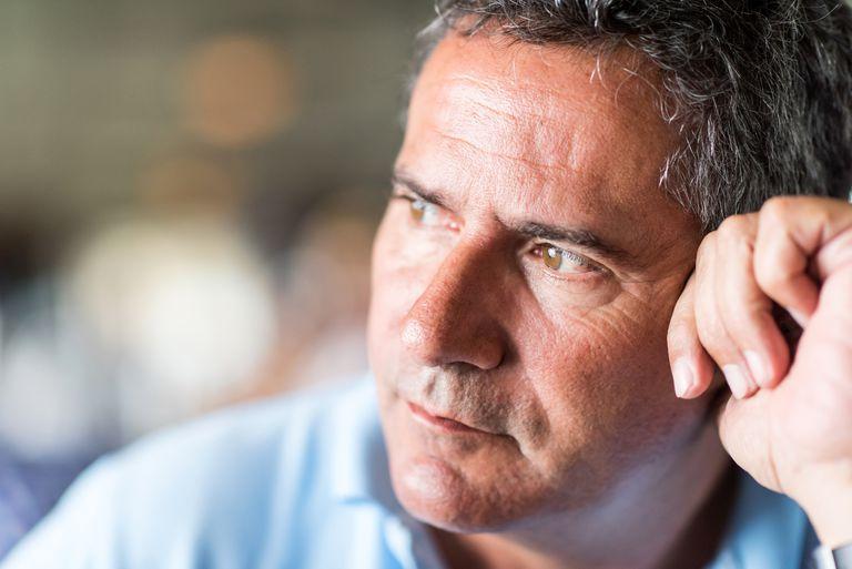 Pensive mature man
