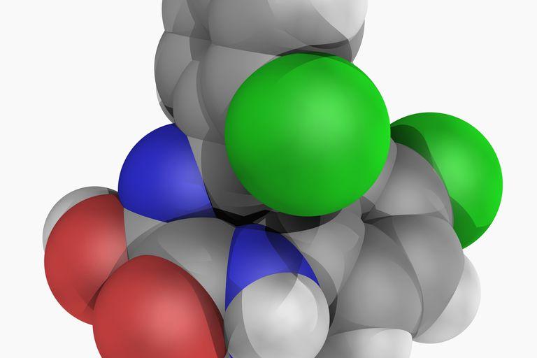 Lorazepam drug molecule