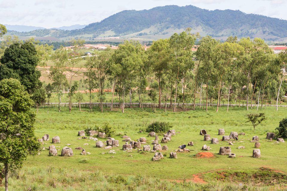 Plain of jars in Laos