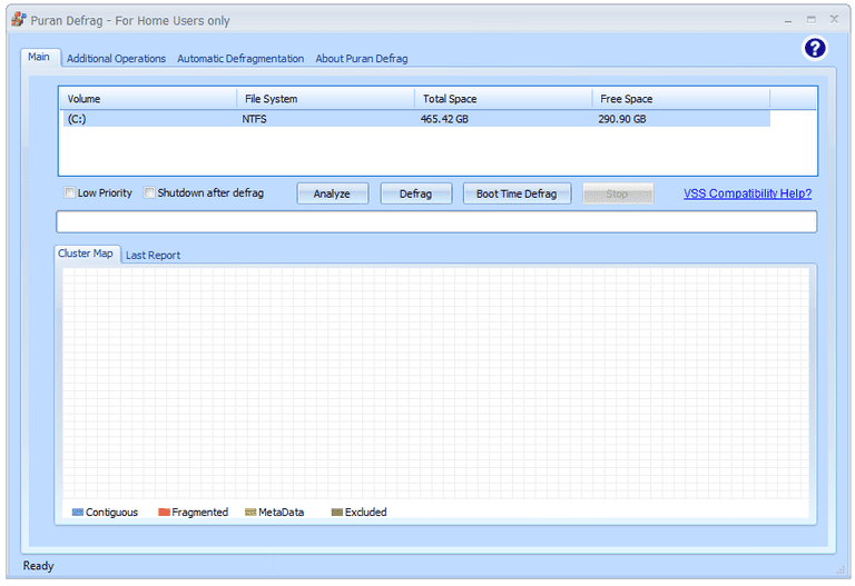 Screenshot of Puran Defrag v7.7
