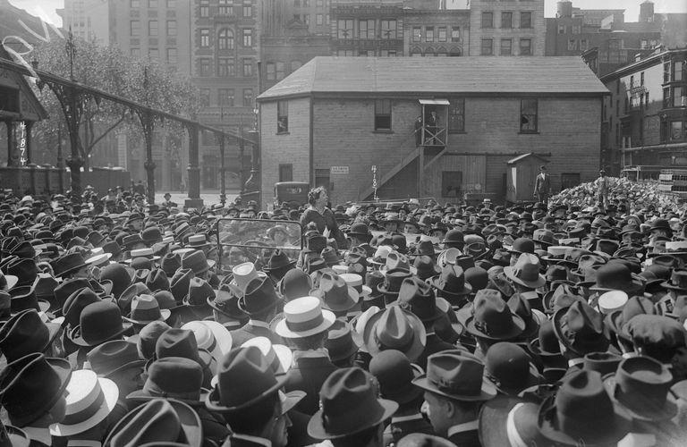 Emma Goldman Addressing Crowd