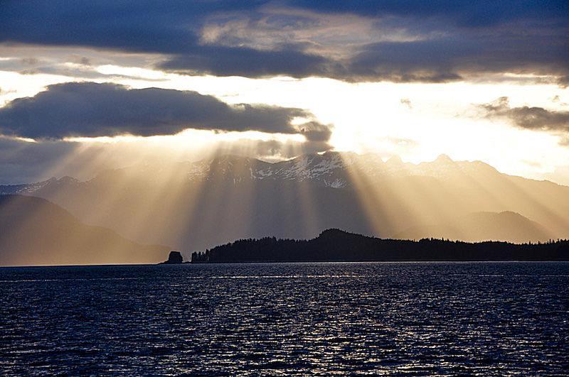 God-light over Alaska
