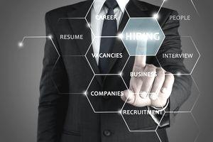 Recruiter advertising for job vacancies