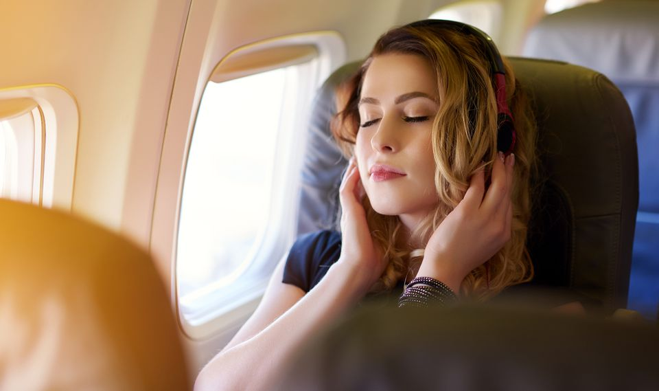 great music in the airplane