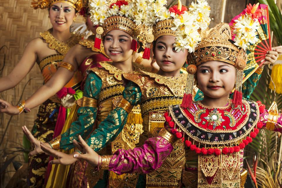 Balinese dangers in traditional costumes