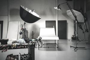 Empty set in photography studio
