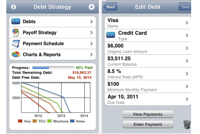 iPhone and iPad Apps for Reducing Debt – Debt Reduction Calculator