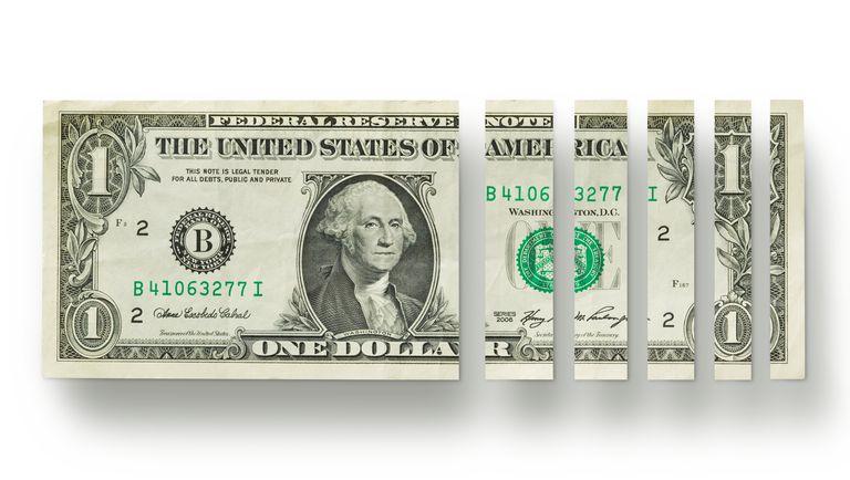 Percentage of a US dollar