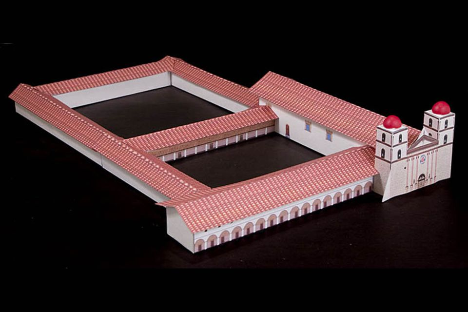 Mission santa barbara history buildings photos for Mission santa barbara floor plan