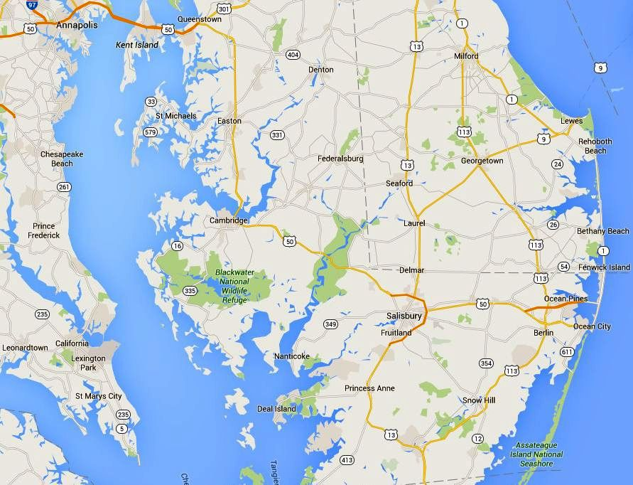 Maps And Directions To Maryland Eastern Shore Towns - Maryland maps