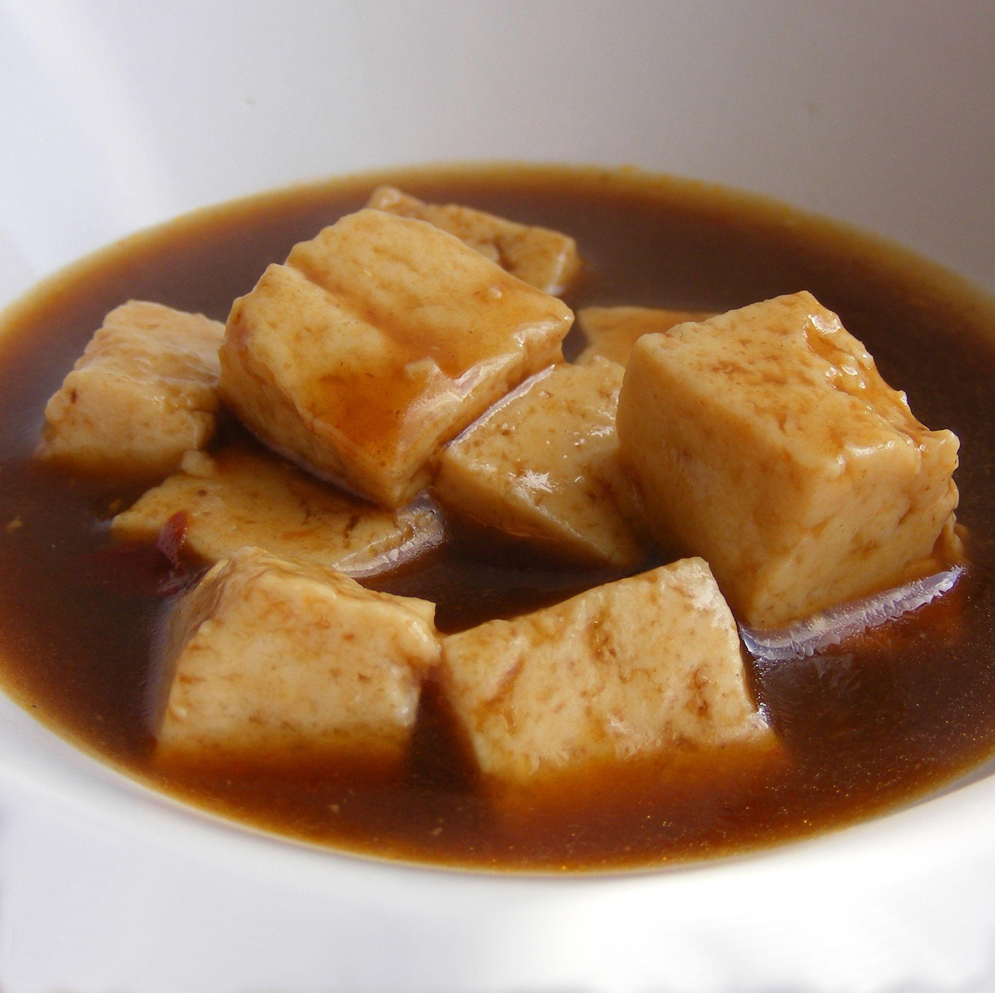 Vegan Tofu With Steak Sauce and ions Recipe