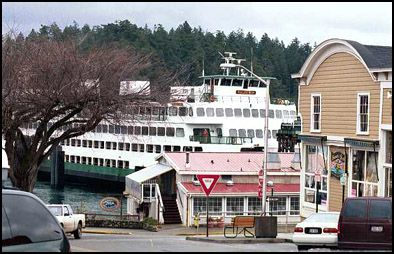 Spring Street and the Ferry dock in Friday Harbor
