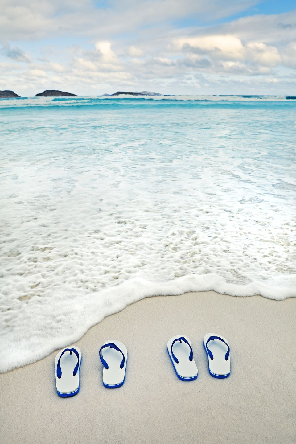flip flops on beach at Cape Le Grand National Park, Australia