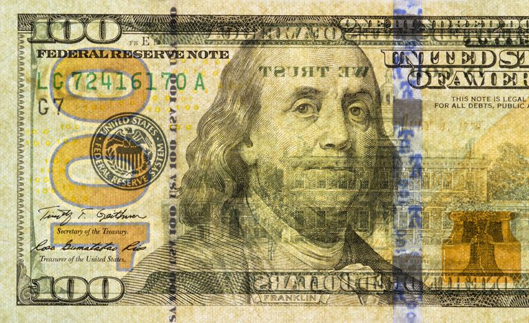 Watermarks found on the US $100 bill