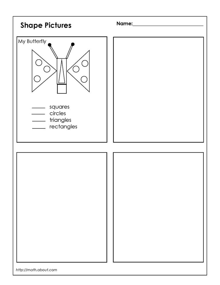 Printable Worksheets drawing shapes worksheets : Geometry Worksheets for Students in 1st Grade