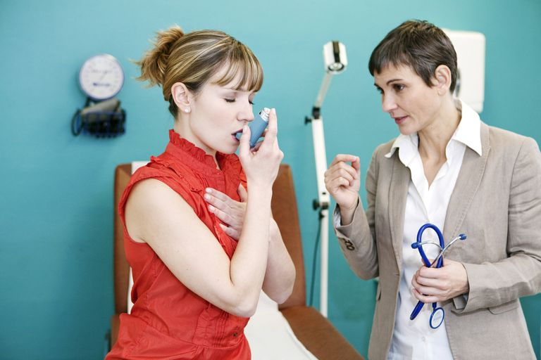 Asthma treatment, woman