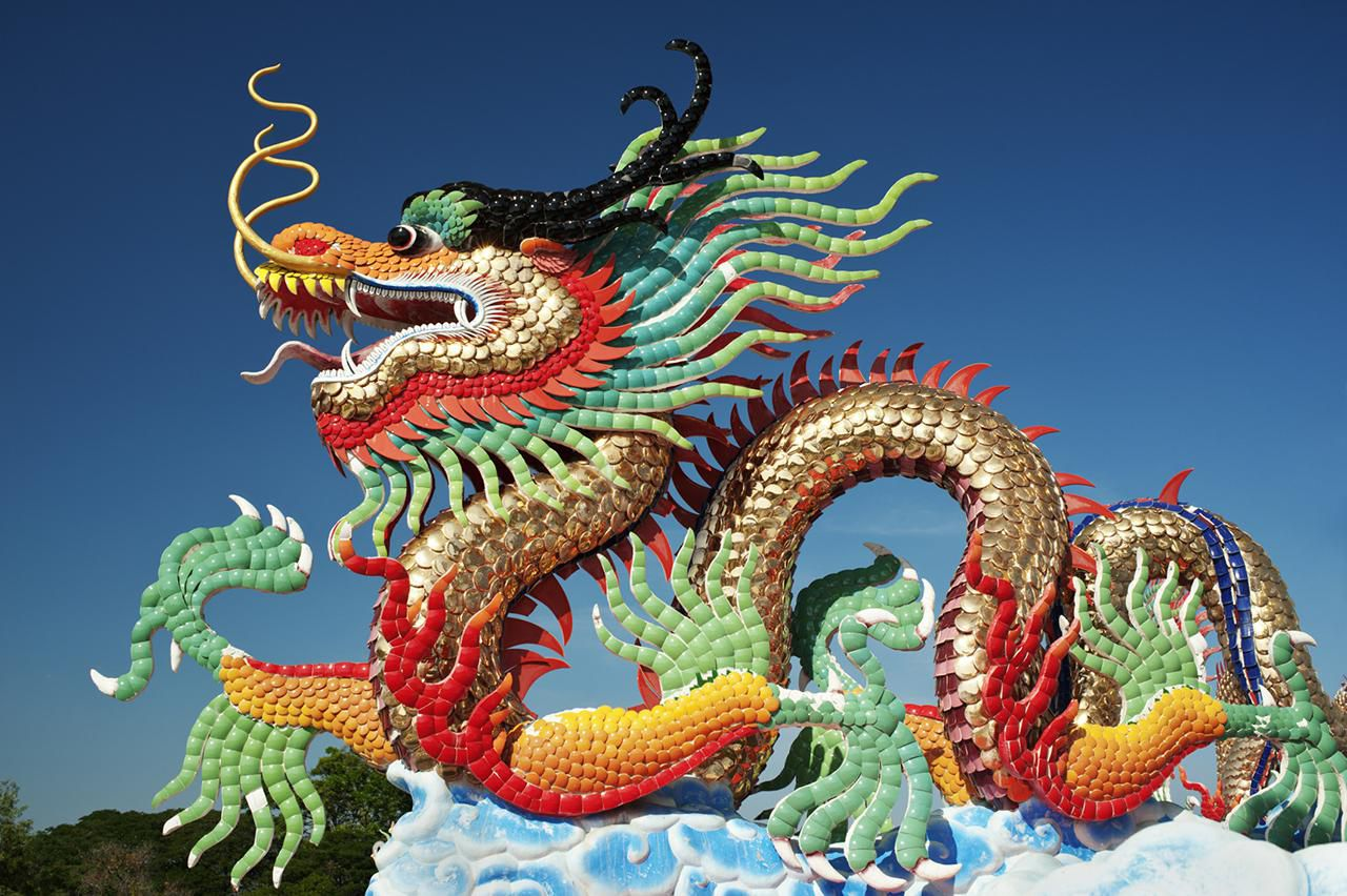 Chinese Lion Dance or Dragon Dance