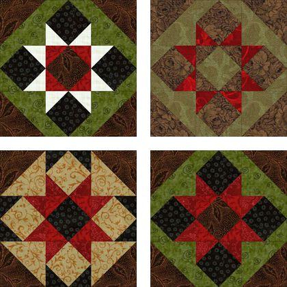 Sawtooth Quilt Block Patten