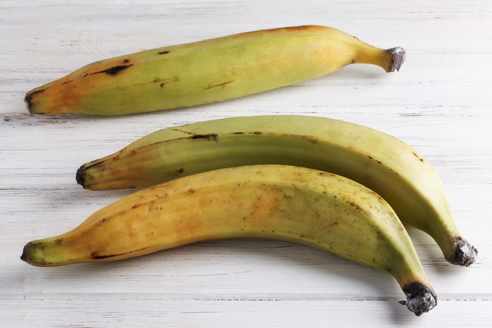 Three yellow plantains