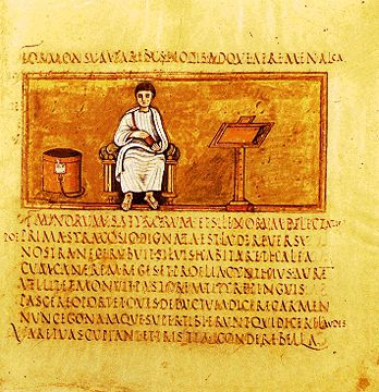 Vergil Portrait From the 5th C. Vergilius Romanus Manuscript