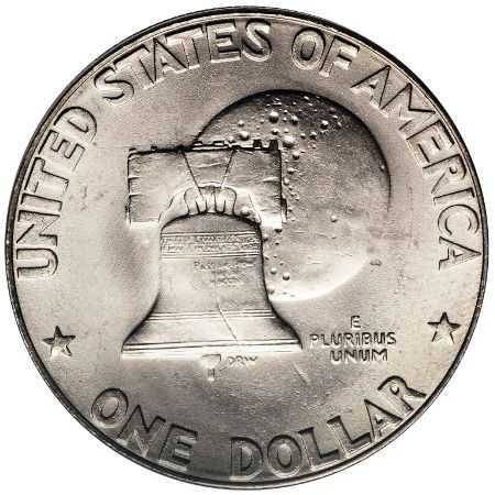 Eisenhower Dollar Bicentennial Type 1