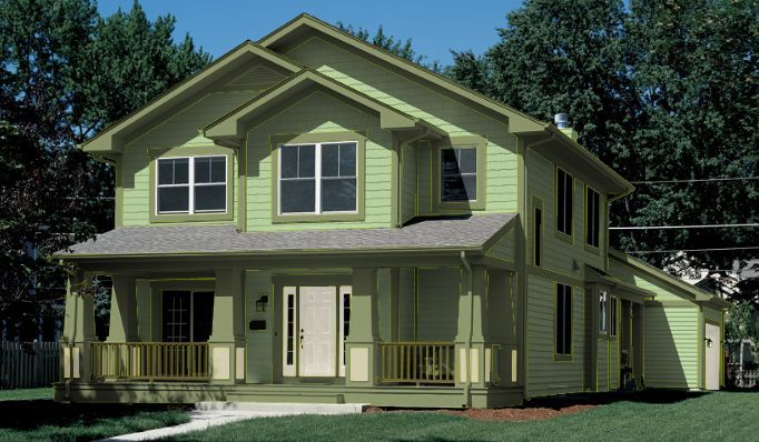 light green house color - Green House Paint Colors