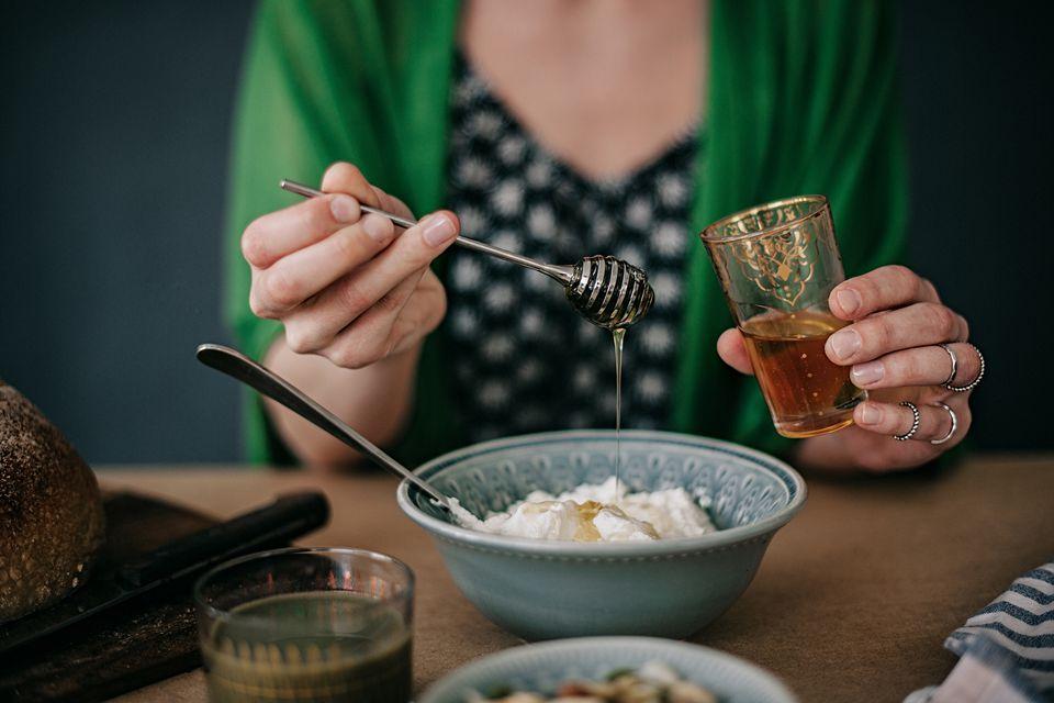 honey over yogurt