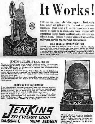 Charles Jenkins - Ad for Radiovision