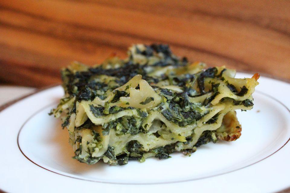 fresh spinach noodle kugel recipe