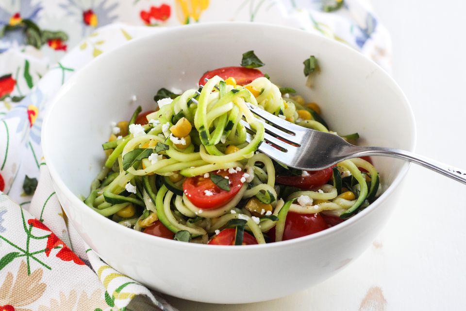 Spiralized Zucchini Pasta