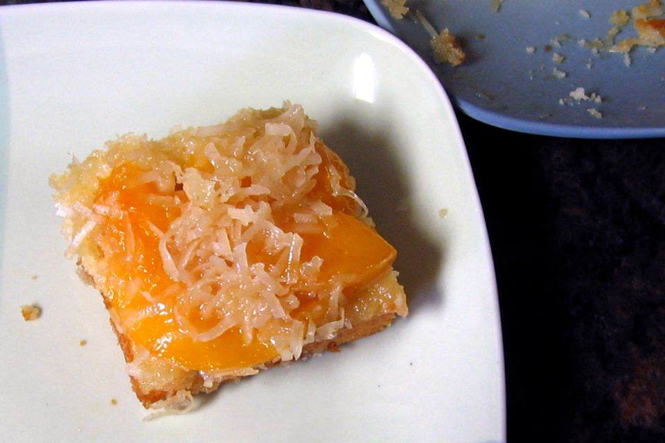 Peach Coconut Upside-Down Cake