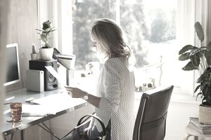 small office home office. Woman From A Home Office Small U