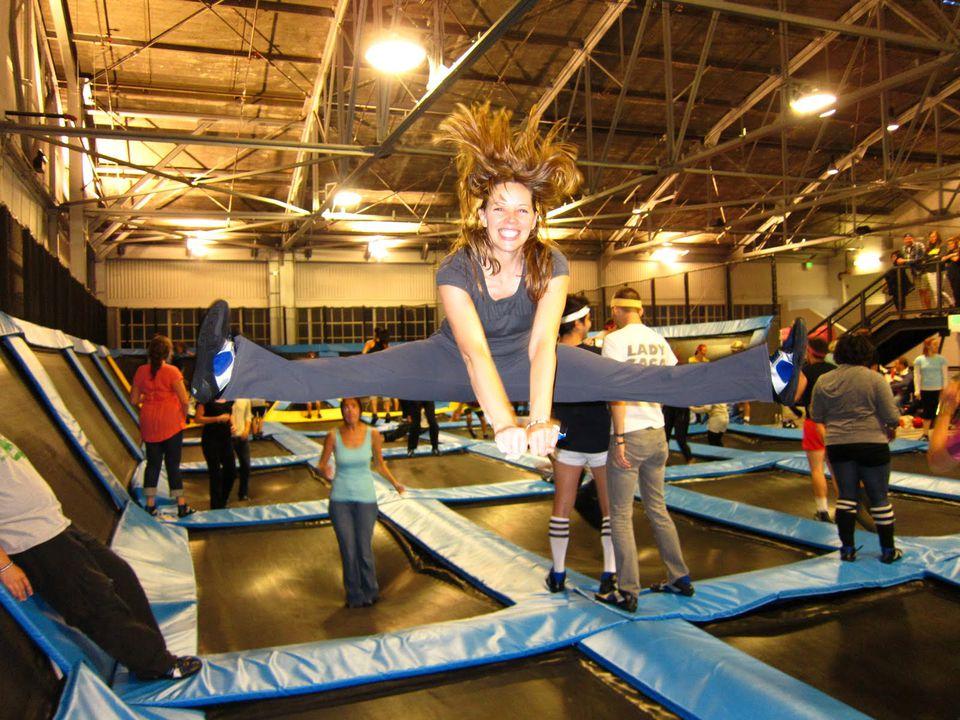 indoor winter activities in vancouver: extreme air park indoor trampolines