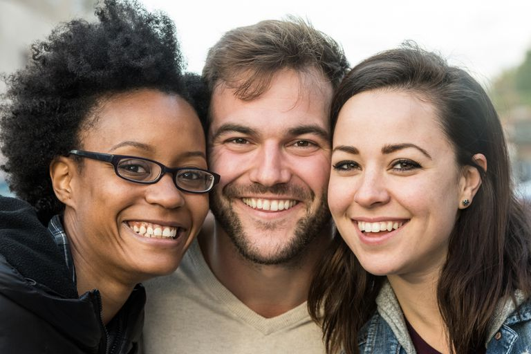 three people for lesson on Spanish pronouns