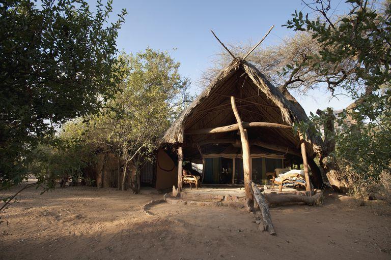 A Primitive Camp in Kenya, Africa