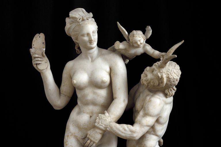 Aphrodite, Pan and Eros
